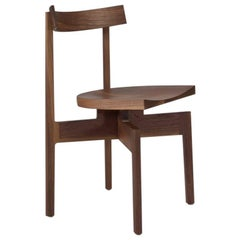 100xbtr Contemporary Stoolback Wood Dining Chair in Walnut
