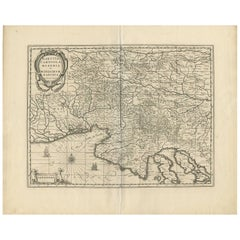 Antique Map of Italy, Slovenia and Croatia by G. Mercator, circa 1600
