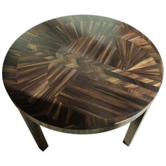 French Art Deco Straw Marquetry Coffee Table