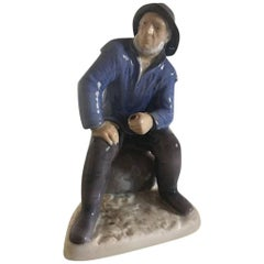 Bing & Grondahl Figurine #2370 Old Fisherman from Skagen