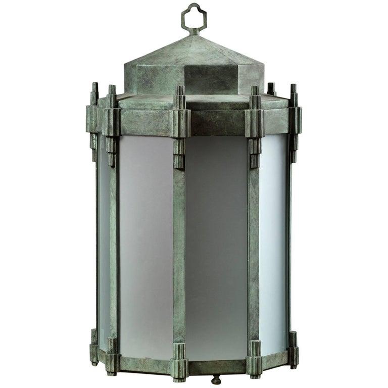 Gill, Art Deco Style Hanging Lantern