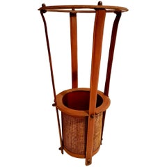 Jacques Adnet Leather Umbrella Stand