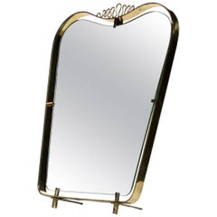 Serpentina Table, Wall Mirror Italian Design Brass Italy 1950s Midcentury