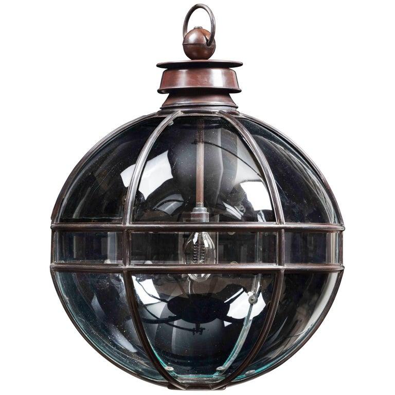 Mercury Large Glazed, Spherical Lantern For Sale