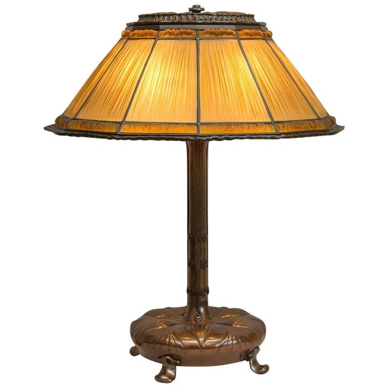 Tiffany Studios Large Linenfold Lamp