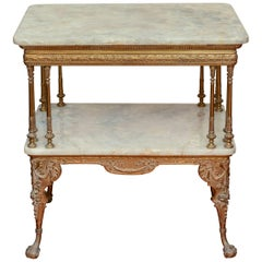 Victorian Gilt Bronze and Onyx Parlor Table