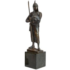 19th Century Bronze Figure of a Warrior