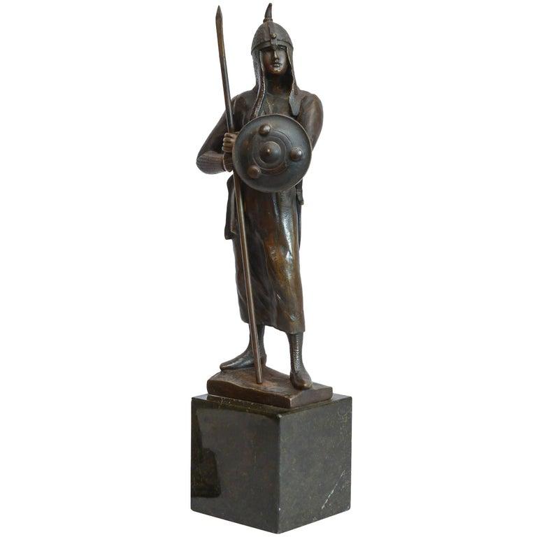 19th Century Bronze Figure of a Warrior