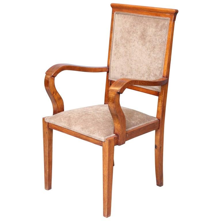 Hungarian Art Deco Chair in Walnut