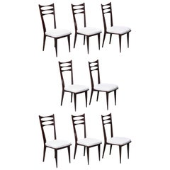 Set of Eight Italian Midcentury Dinning Chairs