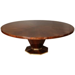 Art Deco French Dining Room Table In Walnut