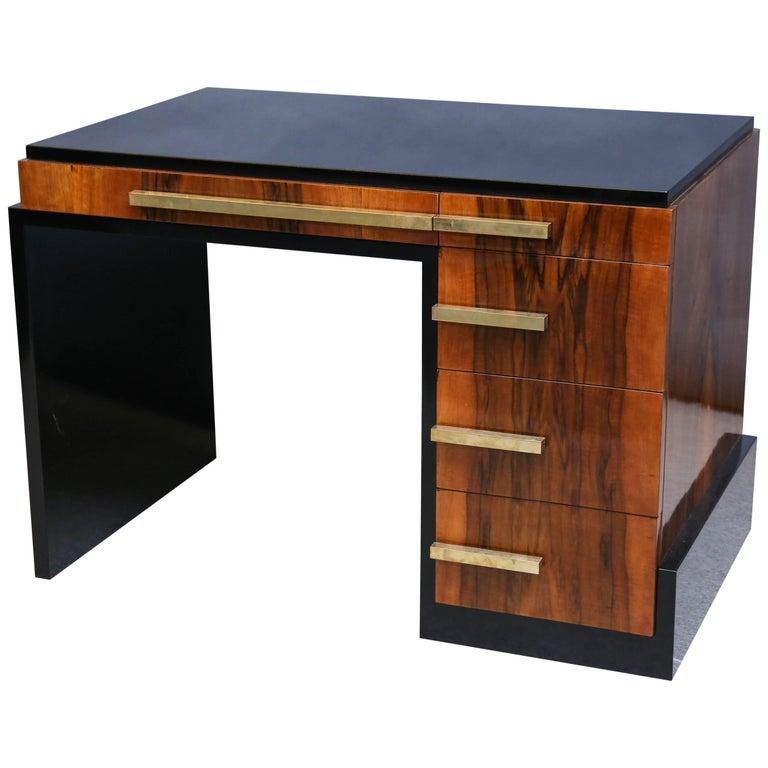 Art Deco French Walnut Desk