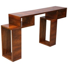 Art Deco French Console in Walnut