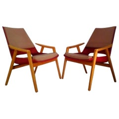 Midcentury Lounge Armchairs by Miroslav Navratil, 1960s