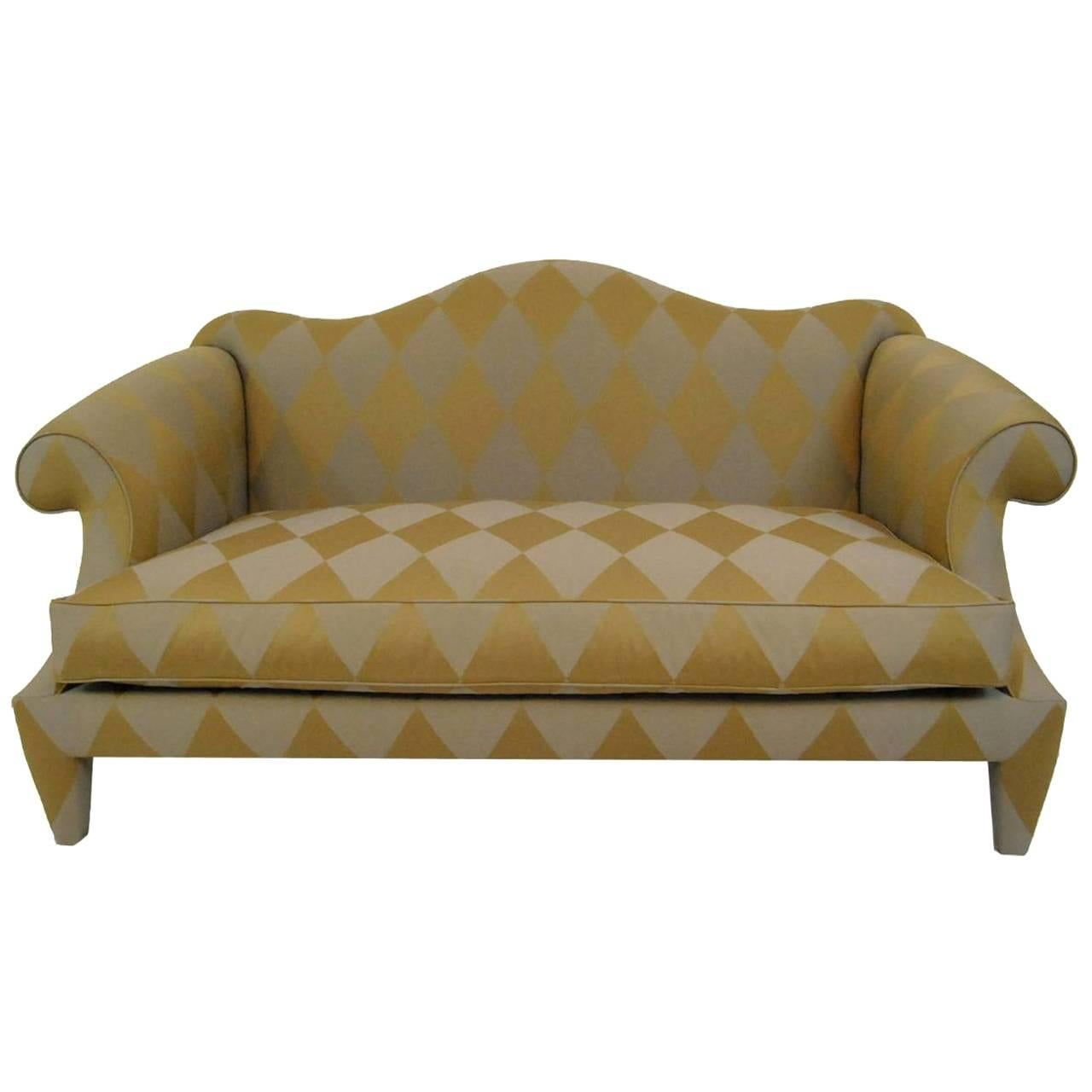 20th Century Camelback Settee Sofa By Donghia