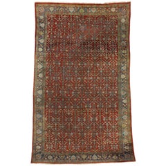 Antique Persian Mahal Area Rug with Aesthetic Victorian Style
