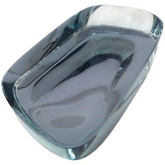 Fontana Arte Rare Blue Glass Mirrored Dish or Vide Poche by Max Ingrand