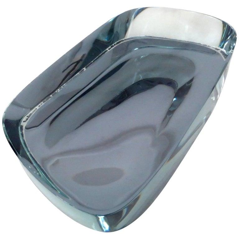 Fontana Arte Rare Blue Glass Dish or Vide Poche by Max Ingrand