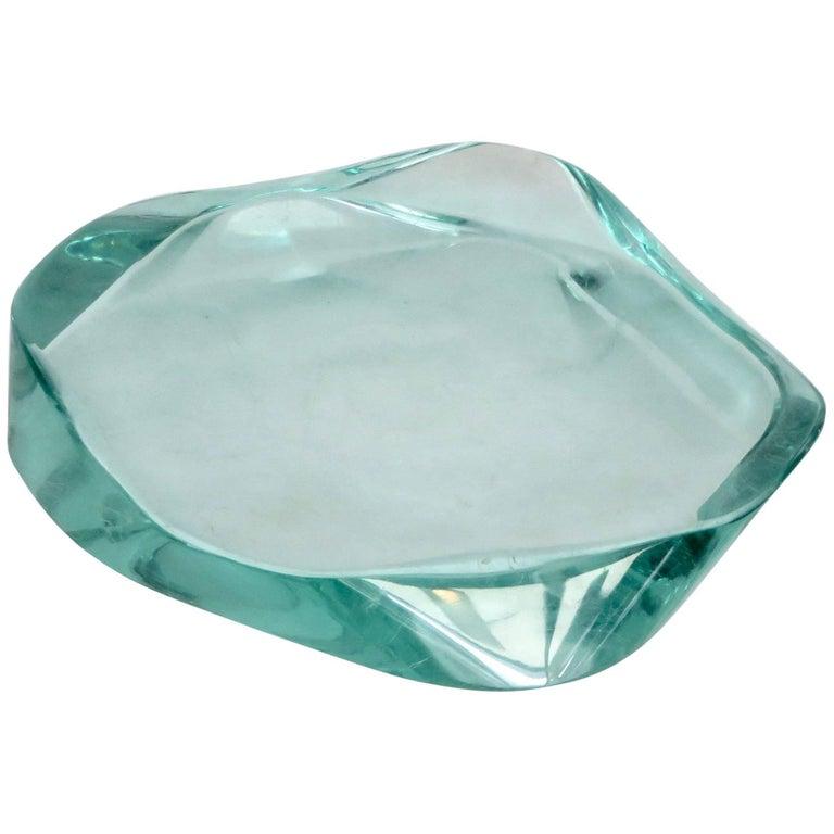 Fontana Arte Glass Dish or Vide Poche by Max Ingrand