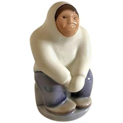 Royal Copenhagen Figurine of Eskimo Greenlander #2413
