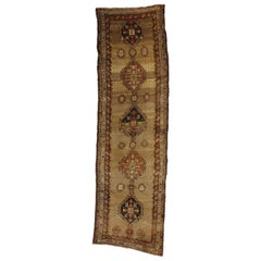 Antique Persian Malayer Runner with Tribal Style, Hallway Runner