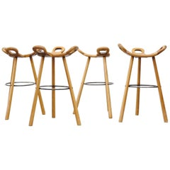 Set of Four Sergio Rodriguez Style Stools