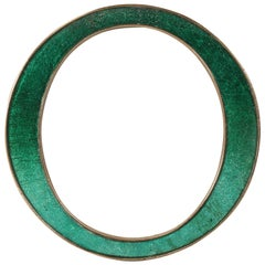 "Antique English Letter ""O"" Made of Solid Cast Copper with an Enamel Inlay"