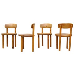 Set of Four Pine Daumiller Dining Chairs