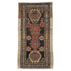 Antique Nahavand Hamadan Accent Rug with Tribal Style, Small Runner