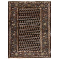 Antique Persian Heriz Rug with American Colonial Style