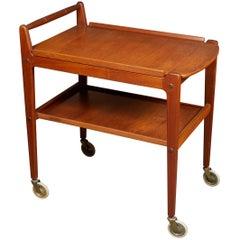 Nice Modernist Scandinavian Teak Bar Cart