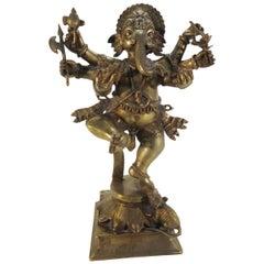 Bronze Dancing Ganesha Statuette