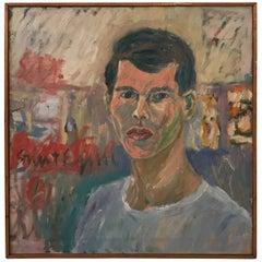 Portrait of a Young Man, Artist Signed Stuart Engal
