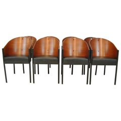 "Set of Eight ""Costes"" Barrel Back Chair by Philippe Starck"