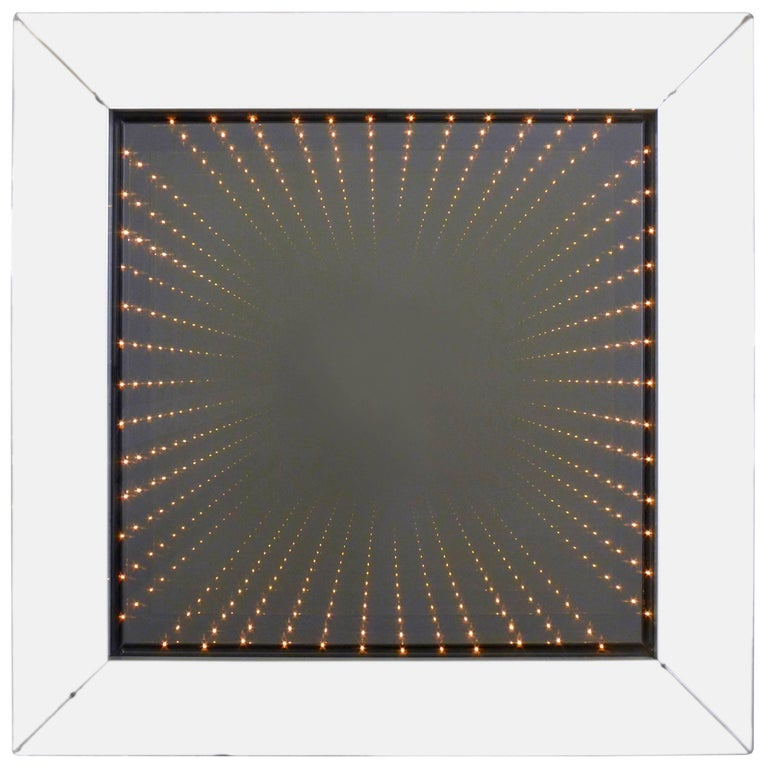 Infinity Mirror in Deep Mirrored Frame For Sale