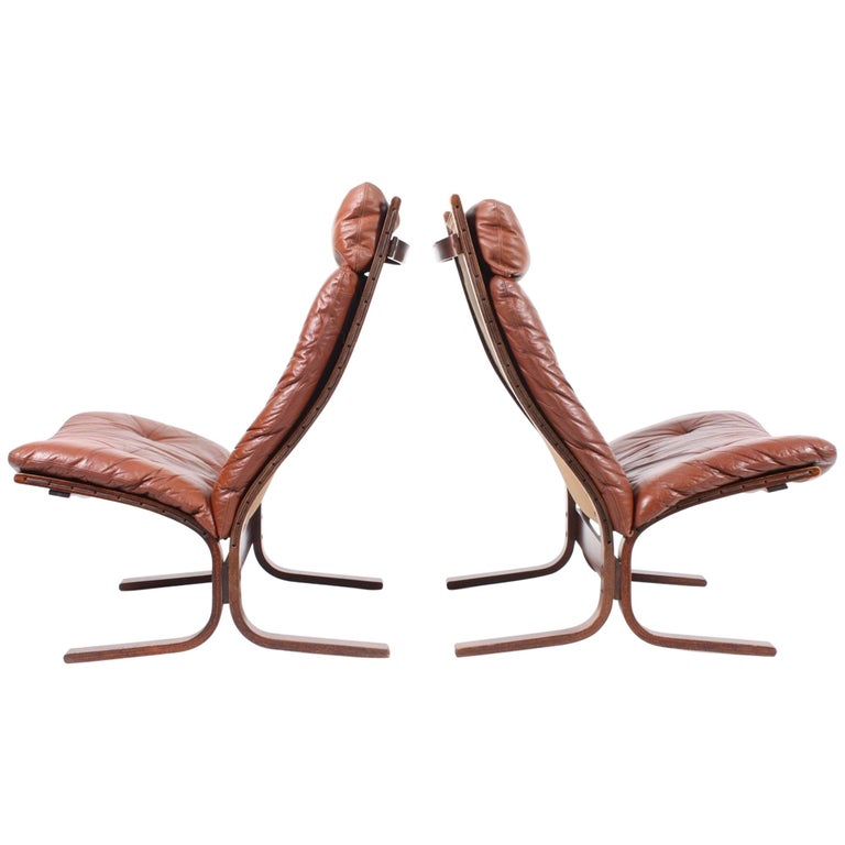 Pair of Lounge Chairs by Ingmar Relling For Sale