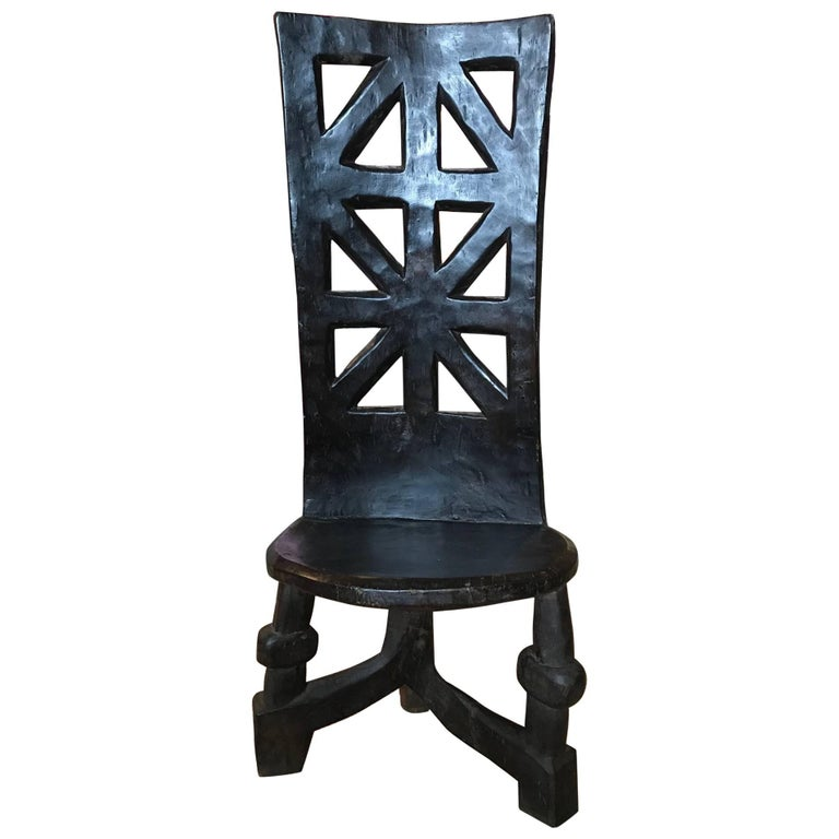 African Ceremonial Tribal Chair