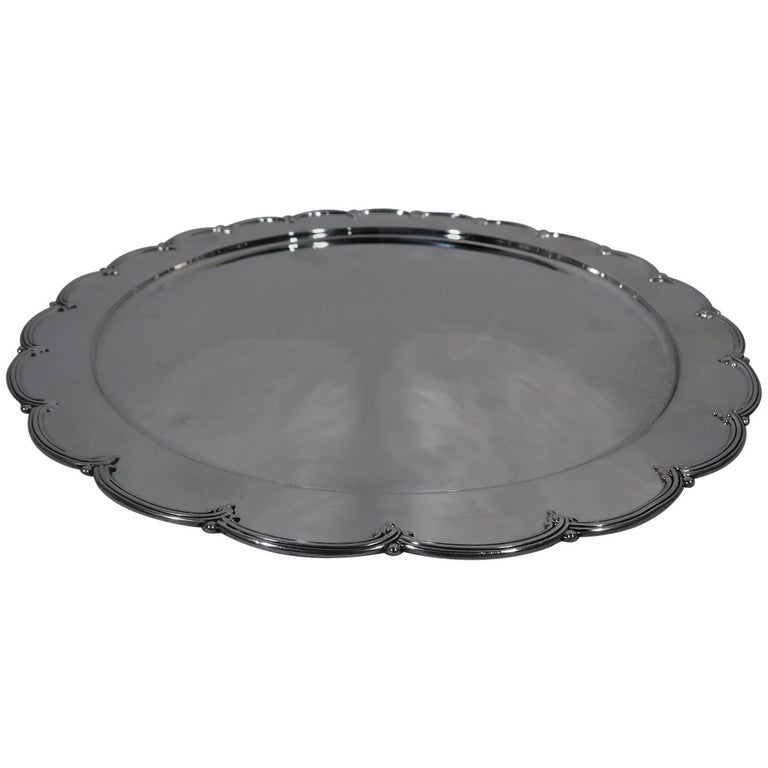 Antique Edwardian Sterling Silver Petal Tray by Tiffany