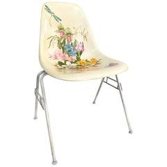 Hand-Painted Herman Miller Eames Molded Fiberglass Side Chair