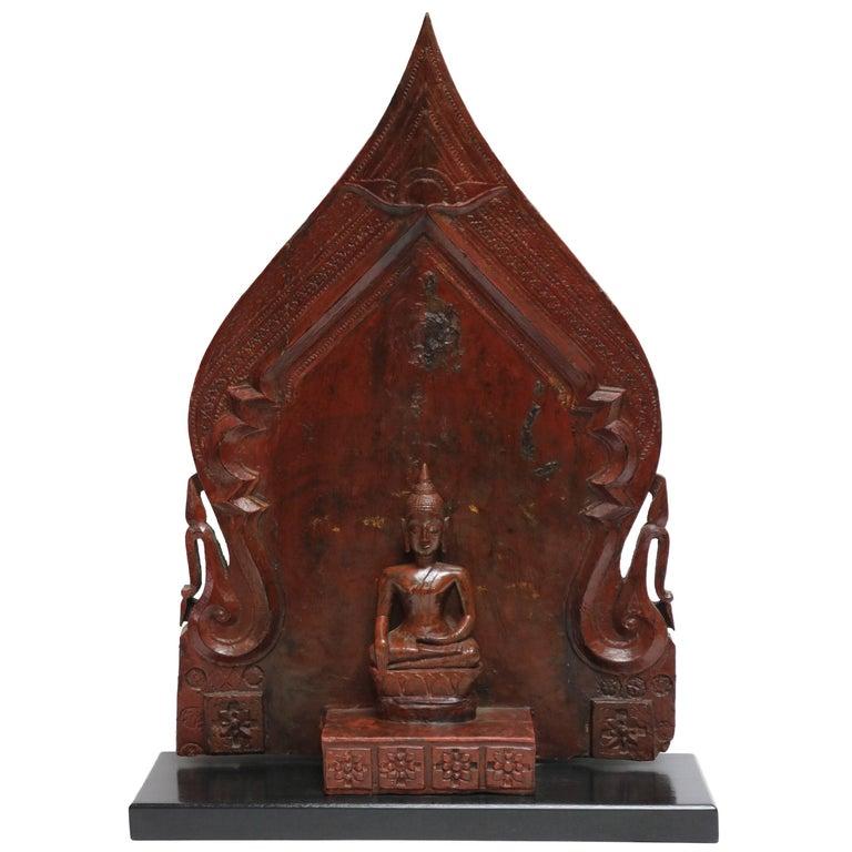 Wooden Seated Buddha TA 12