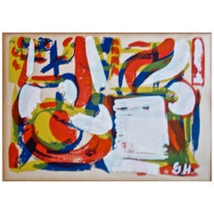 Grace Hartigan Abstract Expressionist Screen Print