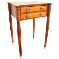 New England Sheraton Two-Drawer Work Table