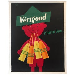 Original Vintage French Poster, Verigoud by Savignac