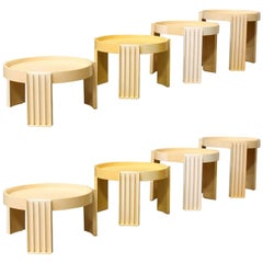 1967, Gianfranco Frattini for Cassina, 8 Pieces of Marema Stacking Tables
