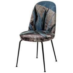 """Hungry"" Upholstered Chair with Painted Steel Frame & Base by Moroso for Diesel"