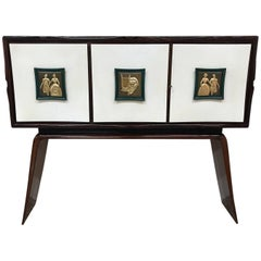 Unique Italian Bar Cabinet, 1950s