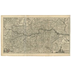 Antique Map of Austria by N. Visscher, circa 1690