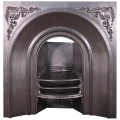 Restored Victorian Cast Iron Fireplace Insert