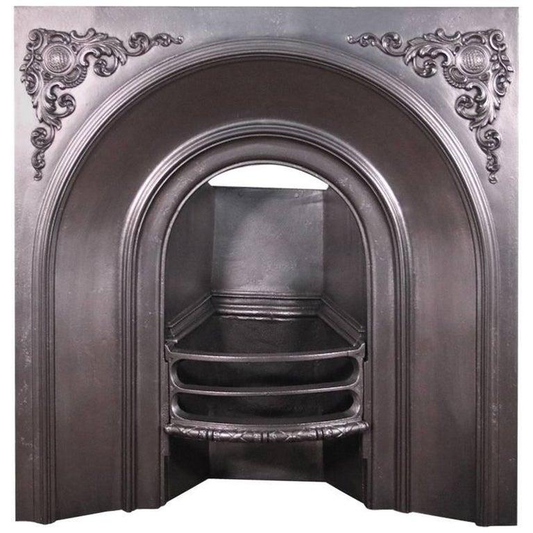 Restored Victorian Cast Iron Fireplace Insert