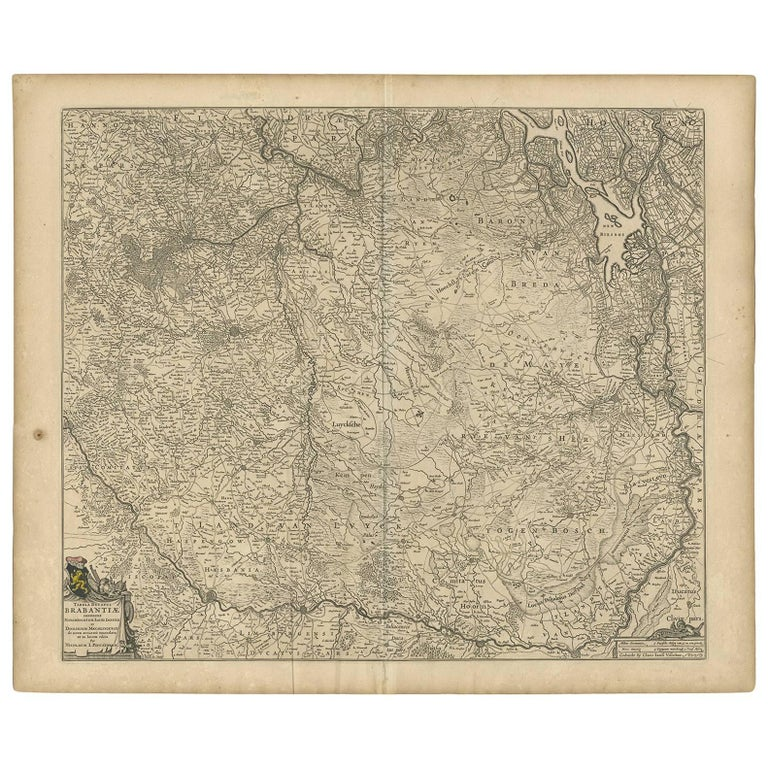Antique Map of Brabant 'The Netherlands' by N. Visscher, circa 1670 For Sale